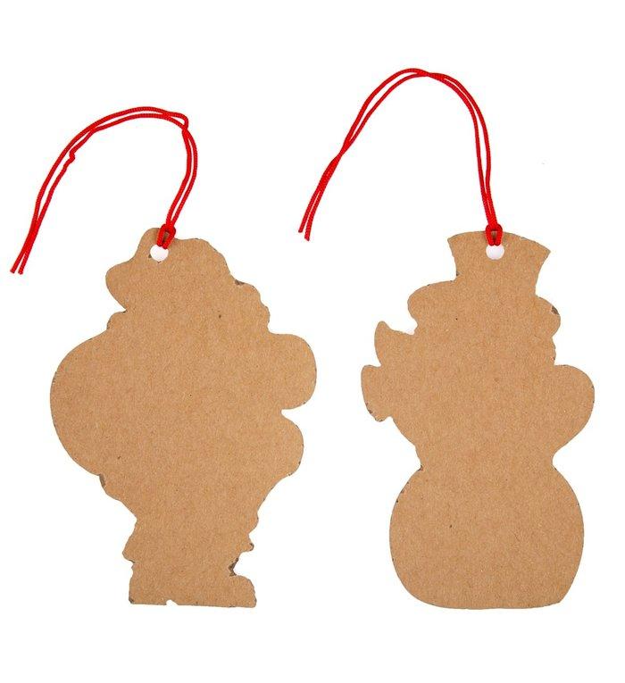 Sass & Belle Retro cadeaukaartjes / cadeau labels voor kerstcadeau met kerstman en sneeuwpop set van 10 stuks