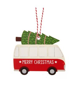 Kerstcamper Cadeaulabels