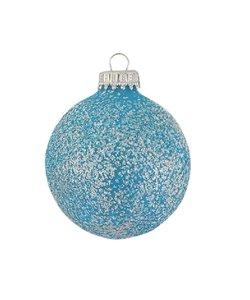 Kerstballen met Lichtblauwe Glitters