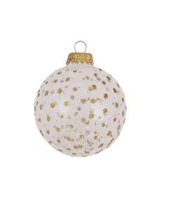 Kerstballen met Gouden Glitter Stippen