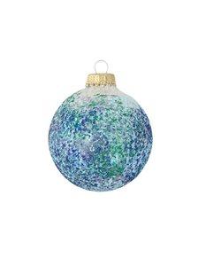 Kerstballen Transparant met Blauw & Groene Glittermix