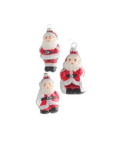 Kerstmannetjes Kerstboomdecoratie Rood Zilver