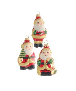 Kerstmannetjes Kerstboomdecoratie Rood Goud