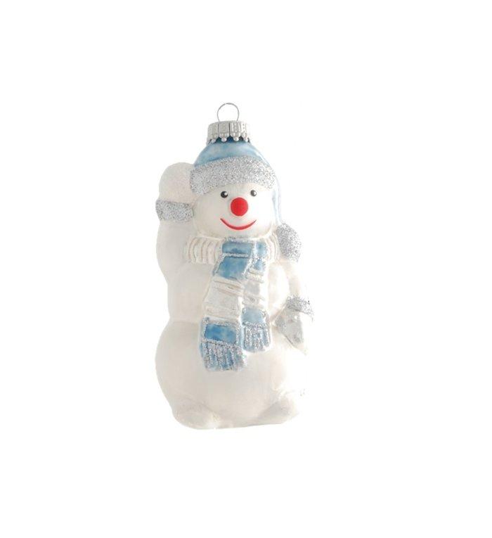 Glazen Frosty The Snowman kerstboom figuur - 11 cm