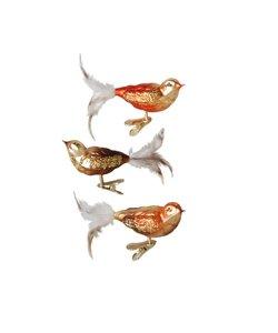 Vogeltjes in Hersft kleuren  met Kerstboomknijper