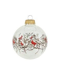 Kerstballen Transparant met Vogeltjes en Takjes