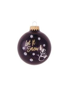 Kerstballen Zwart Let It Snow