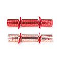 Rode en goude Merry Christmas familie Christmas crackers  - set van 12