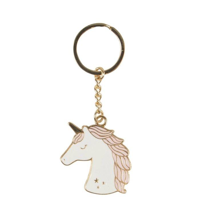 Sass & Belle Sleutelhanger met eenhoorn uit de Rainbow Unicorn collectie van Sass & Belle