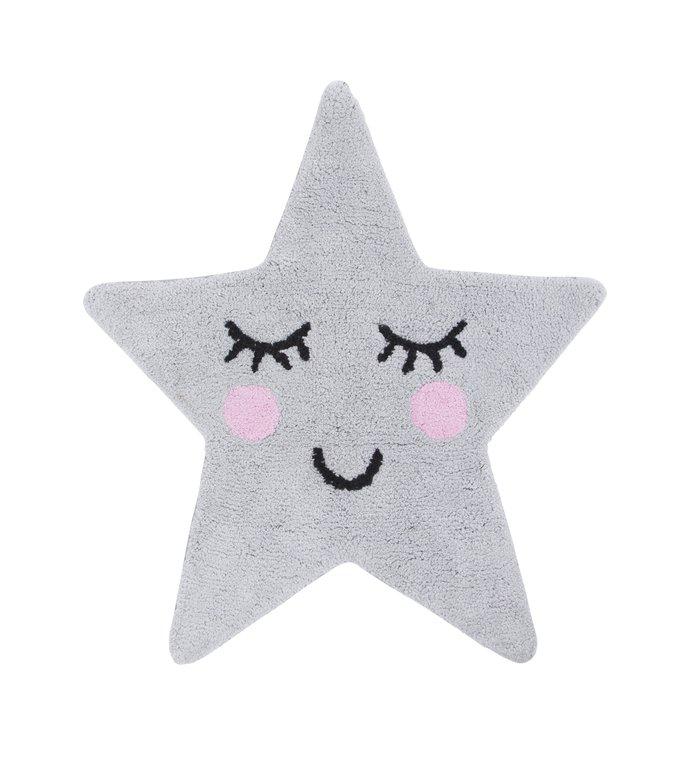 Sass & Belle Vloerkleedje grijze ster uit de Sweet Dreams collectie van Sass & Belle