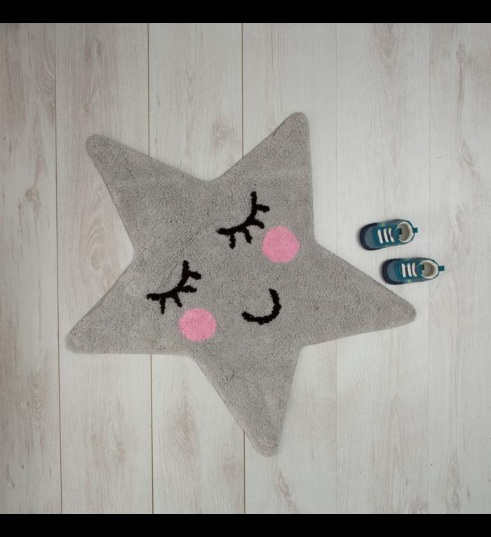 Sass & Belle Vloer kleedje grijze ster uit de Sweet Dreams collectie van Sass & Belle