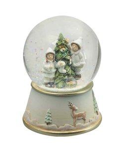 Muziekdoosje met Sneeuwbol Kinderen Versieren Kerstboom