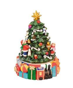 Kerstmis Muziekdoosje Kerstboom met pakjes