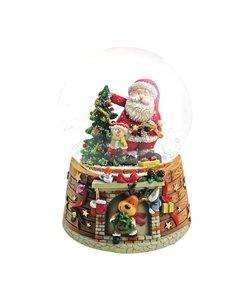 Kerstman Muziekdoosje en Sneeuwdoosje Jingle Bells