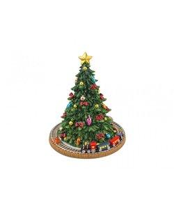 Kerst Muziekdoosje Kerstboom met trein