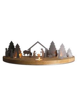Kerststal Silhouette L Waxinelichthouder