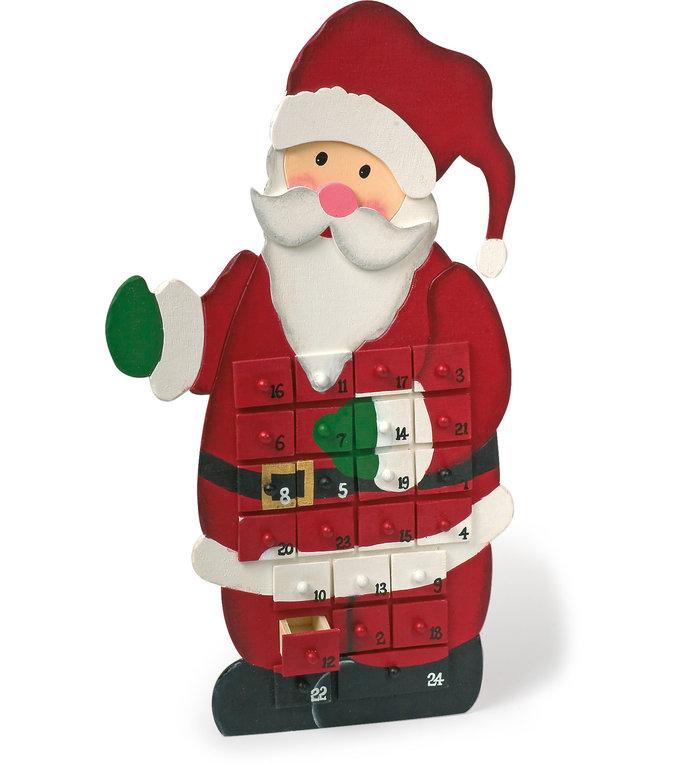 Houten Adventskalender Kerstman