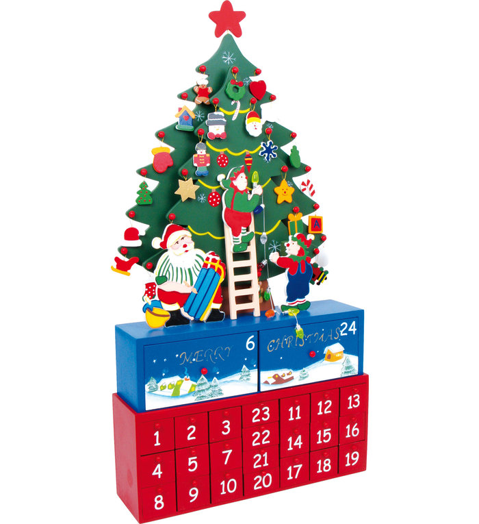Small Foot houten adventskalender kerstboom versieren