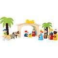 Small Foot 16-delige houten kerststal - kinder speelset