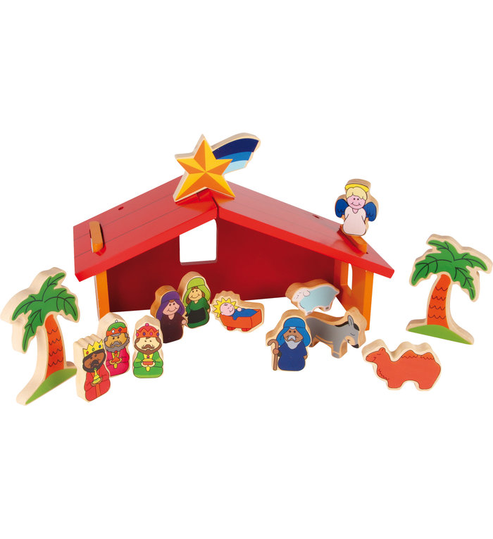 Kinder kerststal speelset 14-delig