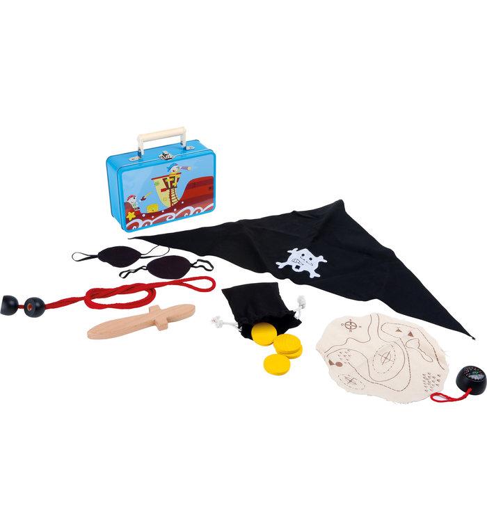 Small Foot Koffertje met verkleedkleding voor een echte piraat