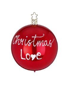 Kerstbal Rood Christmas Love