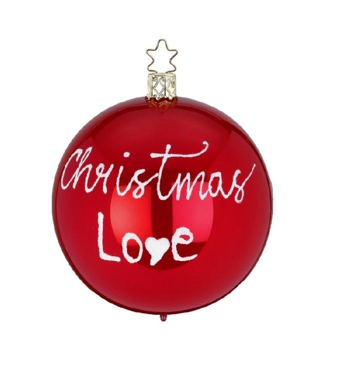 Christmas Love rode kerstbal 8 cm