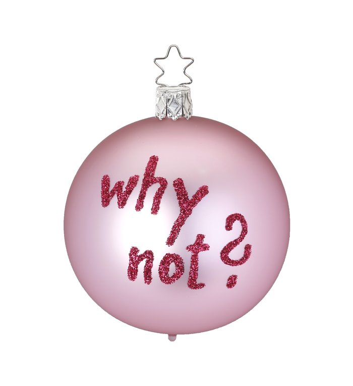 Why not? roze kerstbal 8 cm