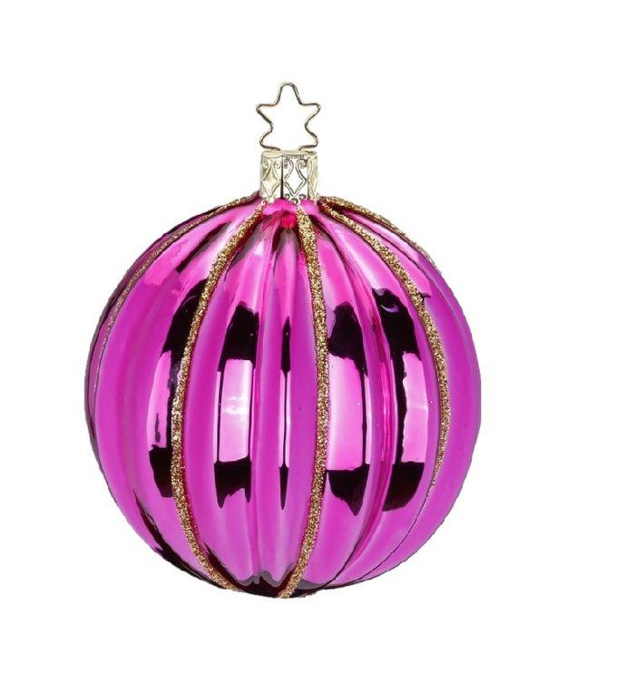 Fantasie roze kerstbal 7,5 cm
