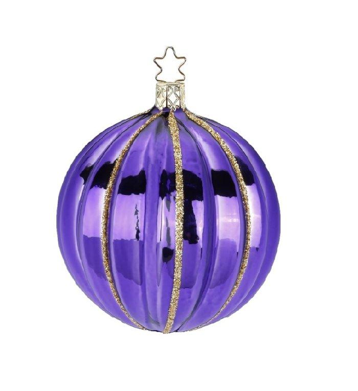 Fantasie donkerpaarse kerstbal 7,5 cm