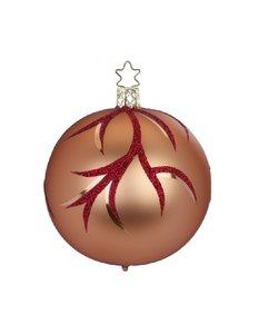Kerstbal Warm bruin met Gewei