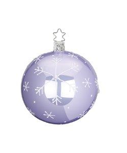 Kerstbal Lila Vallende Sneeuwvlokken