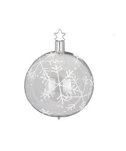 Kerstbal Transparant Vallende Sneeuw