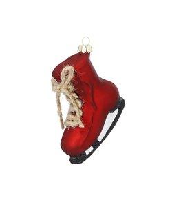 Kerstboomhanger Donkerrode Schaats