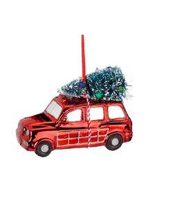 Kerstboomhanger Rode Kerst auto