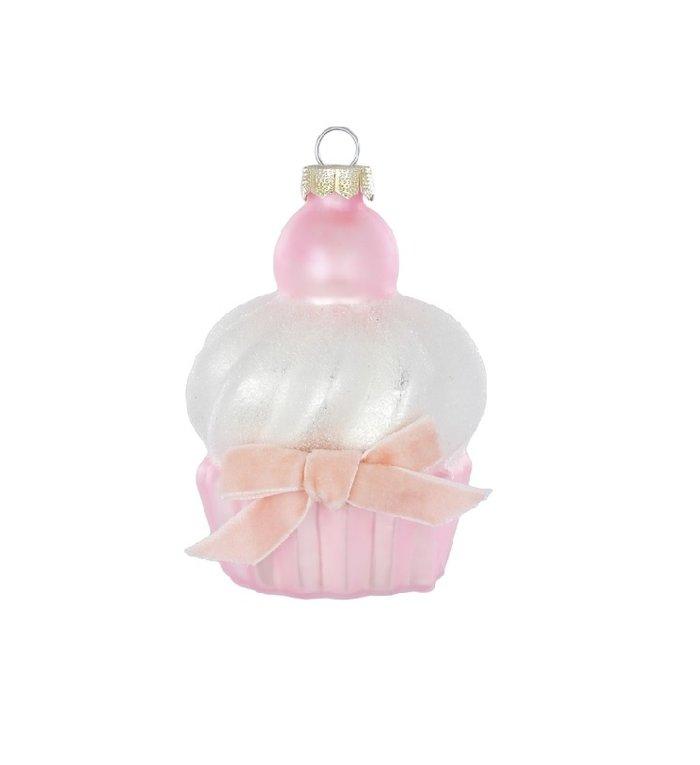 roze zoete cupcake kerstboom decoratie 9 cm