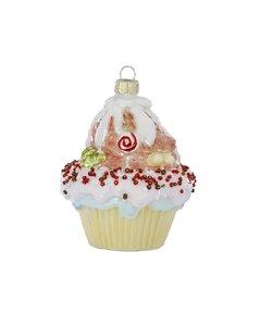 Kerstboomhanger Cupcake met strooisels