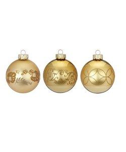 Shiny Gold Kerstballen - set van 3