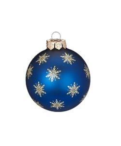 Kerstballen Blauw met Sterren aan de Hemel - set van 3