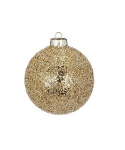 Kerstbal Glinsterend Goud