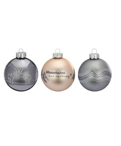 Kerstballen Mountains Best - set van 3