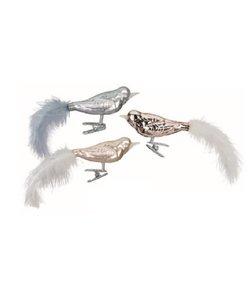 Kerstboomdecoratie Vogeltjes Grijs en Bruin
