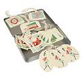 Rex London cadeaukaartjes / cadeau labels voor kerstcadeaus - blikje met 36 stuks