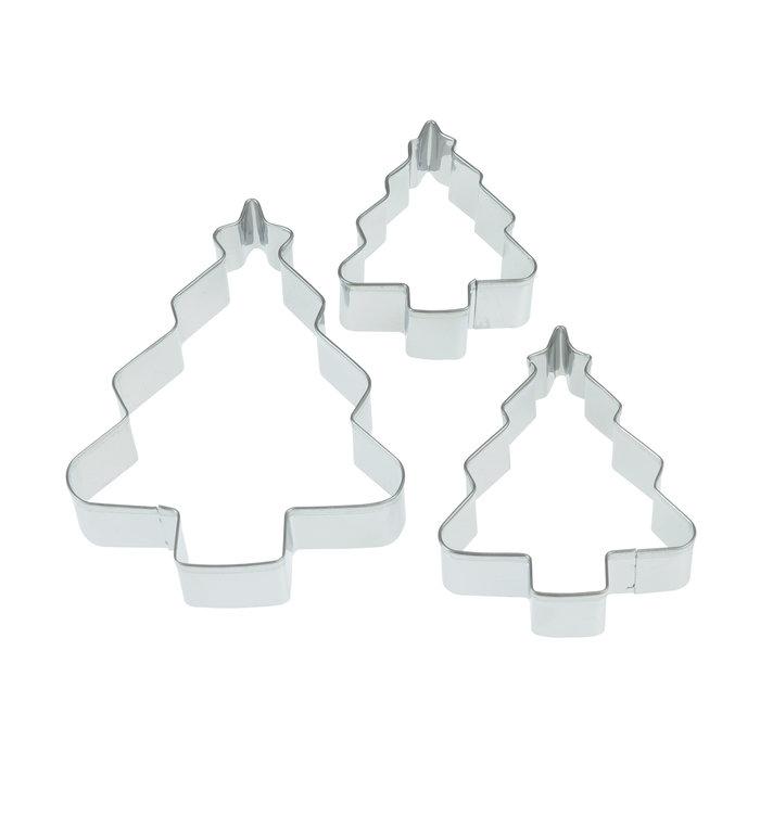 Rex London Set van 3 Kerstboom koekjesvormen