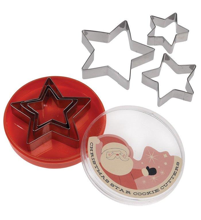 Rex London Set van 3 Kerstster koekjesvormen