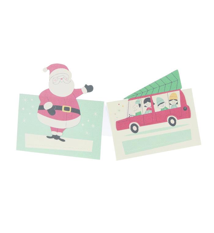 Rex London Set van 6 tafelschikkingskaartjes voor kerstdiner