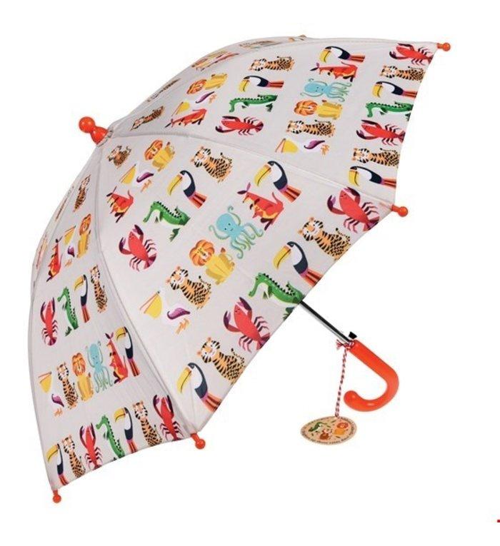 Rex London paraplu met dieren uit de Colourful Creatures collectie