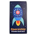 Rex London Houten klok ruimteschip uit de Space Age collectie