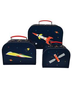 Set van 3 Ruimte Koffers - Space age kofferset