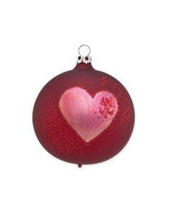 Kerstbal Kersen Rood Groot Hartje